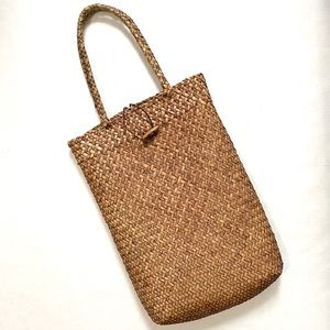 Vintage Woven Natural Fabric Tote